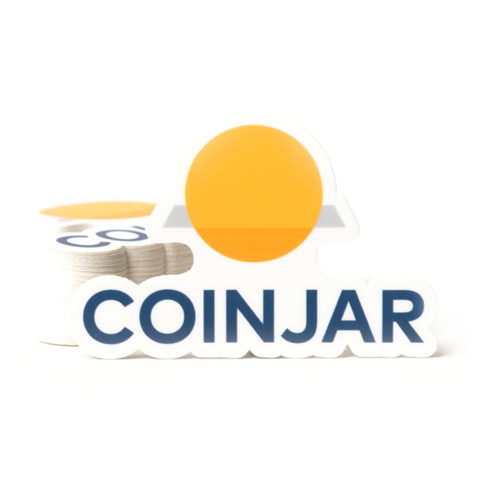 Merchandise coinjar stickers