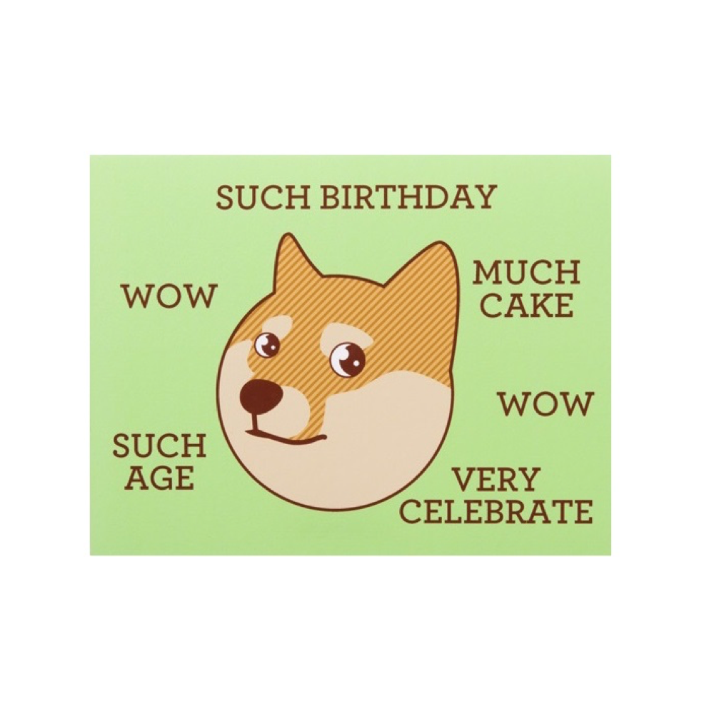 Merchandise doge cards