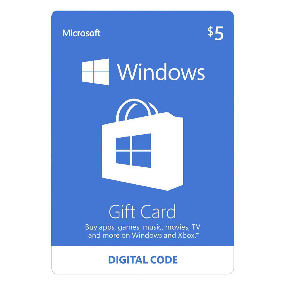 Msgc5esd microsoft windows store digital download giftcard 5